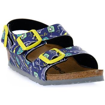 Schuhe Kinder Sandalen / Sandaletten Birkenstock MILANO ROBOTS BLUE CALZ S Blu