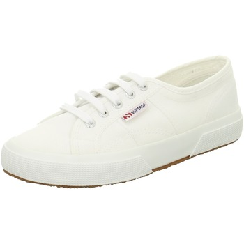 Schuhe Damen Sneaker Low Superga white Canvas weiß