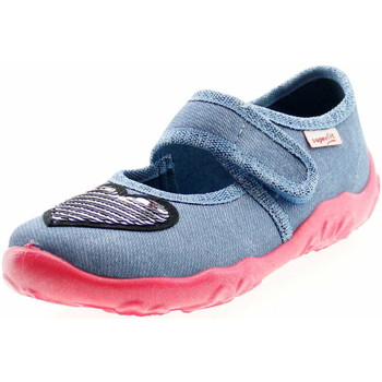 Schuhe Mädchen Ballerinas Superfit 600280 8500 Bonny Mädchen Hausschuh Blau Blau