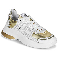 Schuhe Damen Sneaker Low John Galliano 3646 Weiss / Gold