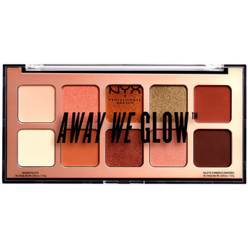 Beauty Damen Set Lidschatten  Nyx Away We Glow Shadow Palette hooked On Glow 10x1 Gr 10 x 1 g