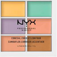 Beauty Damen Concealer & Abdeckstift  Nyx Professional Make Up Conceal Correct Contour Palette 6x1,5 Gr