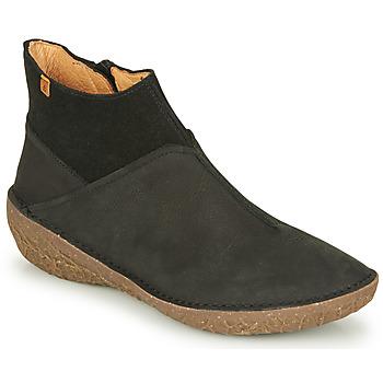 Schuhe Damen Boots El Naturalista BORAGO Schwarz