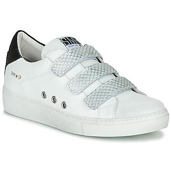 Schuhe Damen Sneaker Low Semerdjian VIP Weiss / Silbern