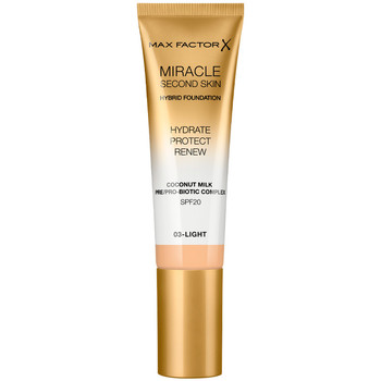 Beauty Damen Make-up & Foundation  Max Factor Miracle Touch Second Skin Found.spf20 3-light 30 ml