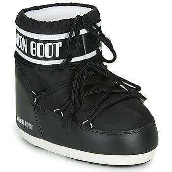Schuhe Damen Schneestiefel Moon Boot MOON BOOT CLASSIC LOW 2 Schwarz