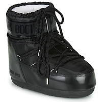 Schuhe Damen Schneestiefel Moon Boot MOON BOOT CLASSIC LOW GLANCE Schwarz