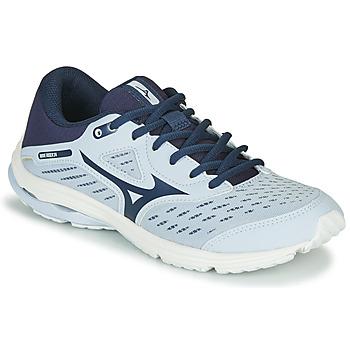 Schuhe Mädchen Laufschuhe Mizuno WAVE RIDER JR Blau