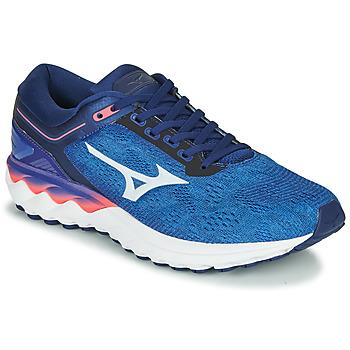 Schuhe Herren Laufschuhe Mizuno WAVE SKY RISE Blau