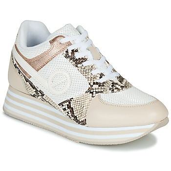 Schuhe Damen Sneaker Low No Name PARKO JOGGER Weiss / Rose