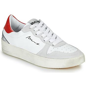 Schuhe Damen Sneaker Low Meline  Weiss / Rot