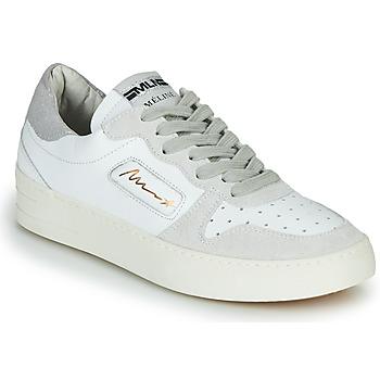 Schuhe Damen Sneaker Low Meline  Weiss / Beige