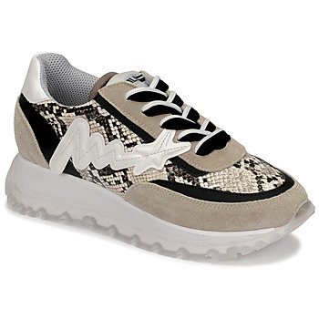 Schuhe Damen Sneaker High Meline  Beige