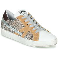 Schuhe Damen Sneaker Low Meline  Weiss / Beige / Gold