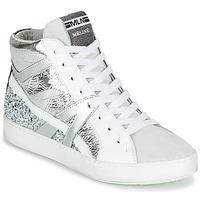 Schuhe Damen Sneaker High Meline IN1363 Weiss / Silbern