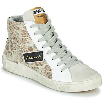 Schuhe Damen Sneaker High Meline  Beige / Leopard