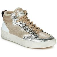 Schuhe Damen Sneaker High Meline STRA5056 Beige / Gold