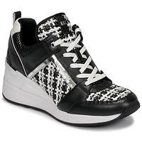 Schuhe Damen Sneaker Low MICHAEL Michael Kors GEORGIE TRAINER Schwarz / Weiss