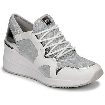 Schuhe Damen Sneaker Low MICHAEL Michael Kors LIV TRAINER Weiss / Silbern