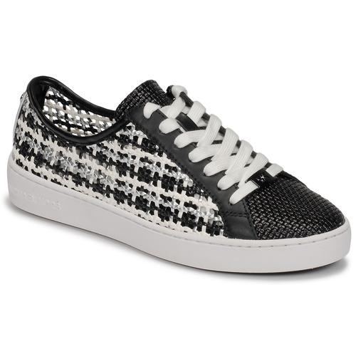 Schuhe Damen Sneaker Low MICHAEL Michael Kors OLIVIA LACE UP Schwarz / Weiss