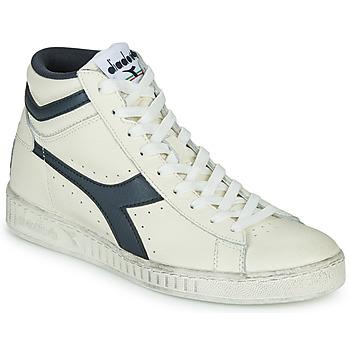 Schuhe Sneaker High Diadora GAME L HIGH WAXED Weiss / Blau