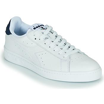 Schuhe Sneaker Low Diadora GAME L LOW OPTICAL Weiss / Blau