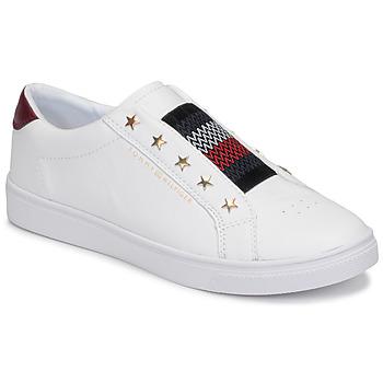 Schuhe Damen Sneaker Low Tommy Hilfiger TOMMY HILFIGER ELASTIC SLIP ON Weiss
