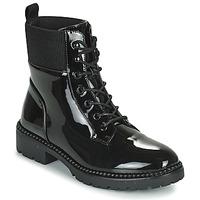 Schuhe Damen Boots Les Petites Bombes AMBELLINE Schwarz