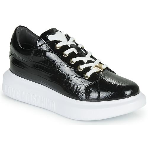 Schuhe Damen Sneaker Low Love Moschino JA15494G0B Schwarz