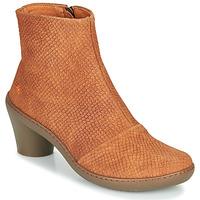 Schuhe Damen Low Boots Art ALFAMA Braun