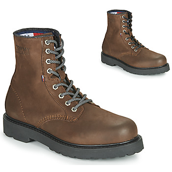 Schuhe Herren Boots Tommy Jeans NUBUCK WARMLINED LACE UP BOOT Braun