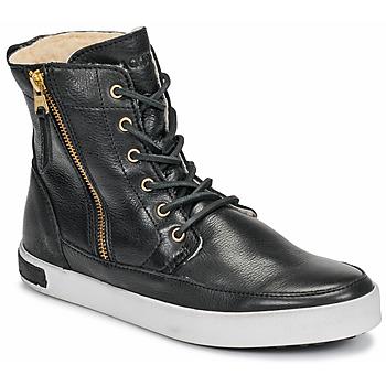 Schuhe Damen Sneaker High Blackstone CW96 Schwarz