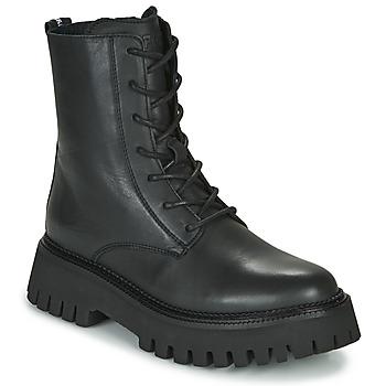 Schuhe Damen Boots Bronx GROOV Y Schwarz