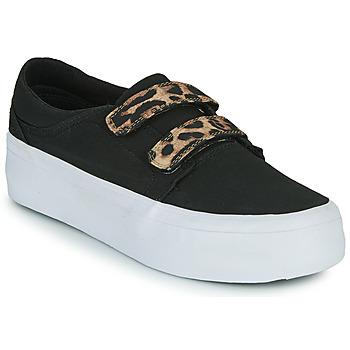 Schuhe Damen Sneaker High DC Shoes TRASE PLATEFORM V Schwarz / Leopard