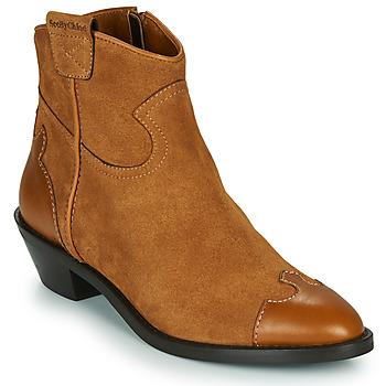 Schuhe Damen Low Boots See by Chloé VEND Cognac