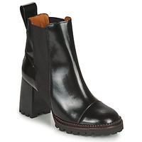 Schuhe Damen Low Boots See by Chloé TRINIDAD Schwarz