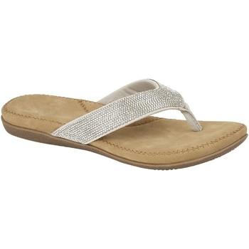 Schuhe Damen Zehensandalen Cipriata  Silber