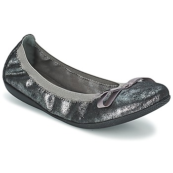 Schuhe Damen Ballerinas Les P'tites Bombes ELLA METAL Silbern