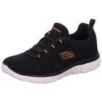 Schuhe Damen Sneaker Low Skechers Usa Deutschland Schnürer schwarz
