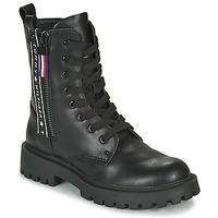 Schuhe Kinder Boots Tommy Hilfiger  Schwarz
