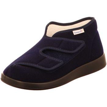 Schuhe Damen Leinen-Pantoletten mit gefloch Florett  blau