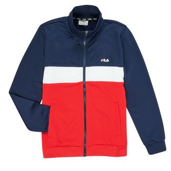 Kleidung Jungen Trainingsjacken Fila MANOLO Marine / Weiss / Rot