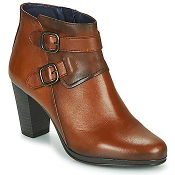 Schuhe Damen Low Boots Dorking JIN Braun