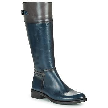 Schuhe Damen Klassische Stiefel Dorking TIERRA Blau / Grau