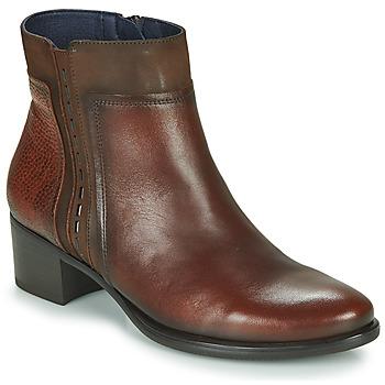 Schuhe Damen Low Boots Dorking ALEGRIA Braun
