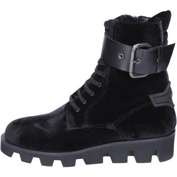 Schuhe Damen Low Boots Roberto Botticelli stiefeletten samt schwarz