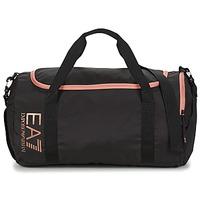 Taschen Damen Sporttaschen Emporio Armani EA7 TRAIN CORE U GYM BAG SMALL Schwarz / Rose