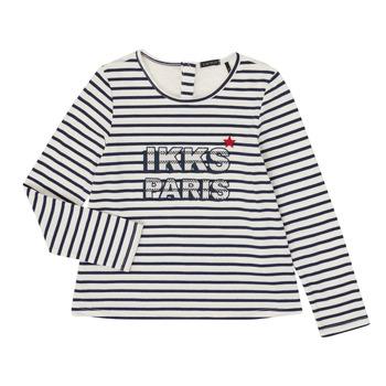 Kleidung Mädchen Langarmshirts Ikks XR10052 Weiss