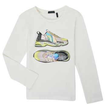 Kleidung Mädchen Langarmshirts Ikks XR10172 Weiss
