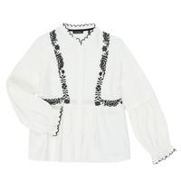 Kleidung Mädchen Hemden Ikks XR12022 Weiss